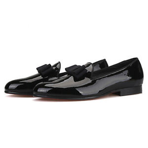 Merlutti Black Patent Leather Shoes With Bowtie