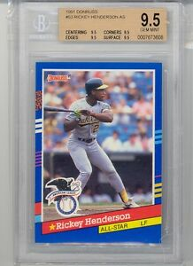 1991 Donruss Rickey Henderson (All-Star Card) (HOF) (#53) (All 9.5 Subs) BGS9.5
