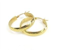 Exotische goldene Edelstahl Creolen mit Klappbügel Farbe gold