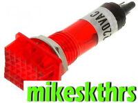 Sig.16 230V 12x16mm Rot  Signalleuchte Glimmlampe Kontrolllampe Signallampe