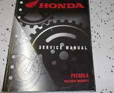 2008 2009 2010 2011 Honda FSC600/A Silver Wing Service Shop Repair Manual NEW