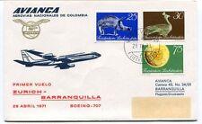 FFC 1971 Avianca Colombia Airlines First Flight Zurich Barranquilla Boeing 707