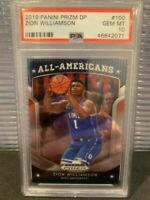 ZION WILLIAMSON 2019 PANINI PRIZM #100 DRAFT PICKS DP RC BASKETBALL CARD PSA 10