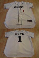 Men's ESPN #1 L Baseball Jersey (White) Jersey