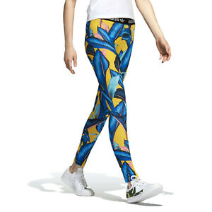 adidas Originals Women's FARM Passinho Floral Fashion Tight Leggings XS S M L