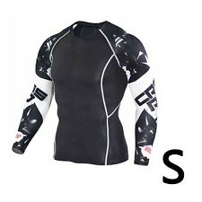 Comfortable Mens Tight Skin Compression Running Top MMA Rash Guard Shirts S~4XL