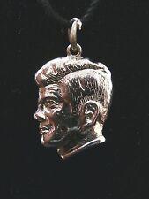 Vintage Sterling Silver John F. Kennedy Head Pendent/ Charm Make Offer! #2330