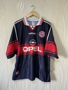 BAYERN MUNICH 1996 1998 AWAY FOOTBALL SHIRT SOCCER JERSEY ADIDAS VINTAGE
