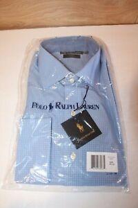Polo Ralph Lauren Men's Regent Button Down Blue Plaid Classic Dress Shirt 16.5