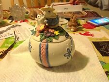 Vintage Fitz And Floyd Easter Bunny Egg Container With Lid