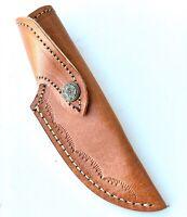 Custom Hand Made Pure Leather Sheath For Fixed Blade Knife - G-2