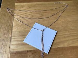 Light Rose Goldtone  Crystal Stone Centre Necklace