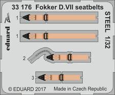Eduard Zoom 33176 1/32 Fokker D.VII cinturones Tuercas