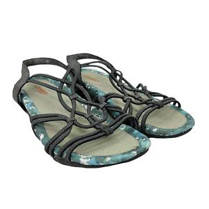 J Sport Jambu April Strappy Gray Vegan Casual Comfort Sandals Women's Size 8