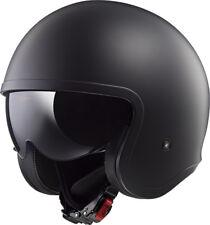 LS2 OF599 SPITFIRE MATT BLACK OPEN FACE LOW PROFILE MOTORCYCLE HELMET