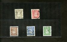LOT 83631 USED J1 / J8 POSTAGE DUE STAMPS FROM  NORWAY