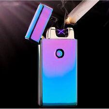 Purple Double Arc Light USB Electronic Rechargeable Battery Cigarette Lighter BD