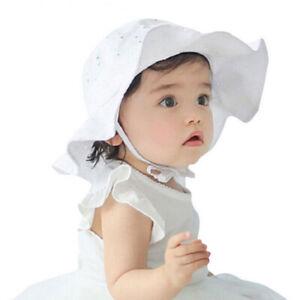 Toddler Infant Baby Girls Outdoor Flower Bucket Hats Summer Sun Beach Bonnet Cap