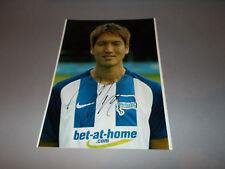 Genki Haraguchi Japan Hertha BSC Berlin signiert signed Autogramm a. 20x28 Foto