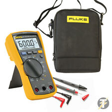 FLUKE 117 True RMS Digital Multimeter KITF, TL175 Test Lead Set, C115 Carry Case