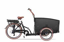 470 Wh NEU Elektro Lastenrad 7 Gang 4 Sitzplätze schwarz-braun Troy Bakfiets