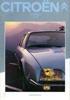 CITROEN CX Diesel Saloons 1982 French Market colour Sales Brochure