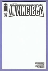 Invincible 111 Blank variant Kirkman Image optioned Amazon TV 1st appearance