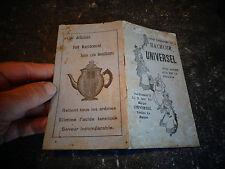 """Guide d'utilisation de l'Ancien Hachoir fonte à Viande """" UNIVERSEL """" & Recettes"""