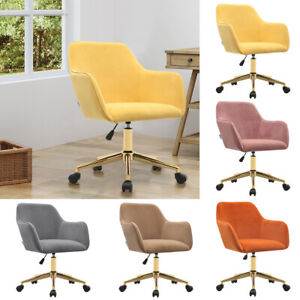Lifting Tub Office Chair Home Velvet Swivel Armchair Lounge Dining Chairs Stool