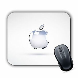 CLEAR APPLE EFFECT MOUSE MAT Pad PC Mac iMac MacBook Gaming High Quality Printed