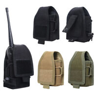 Molle Radio Pouch Tactical Walkie Talkie Bag Holder Case Holster Bag Universal