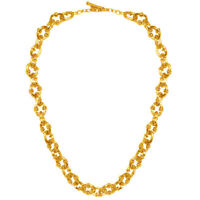 Karine Sultan Matte 24k Gold-plate Chunky Chain Necklace Short,20 inches, French