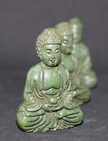 1 Lovely green Buddstone Jade Crystal carved buddha, weight 47 g, lenght 5.7 cm