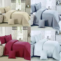 Cotton Touch 3 Piece Quilted Bedspread Set Comforter Throw Bedding, Pillow Cover