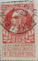 "BELGIUM 85iii (Mi74d) - King Leopold II ""Pale Salmon"" (pf64917)"