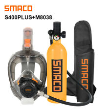SMACO Mini Scuba Diving Tank and Diving Mask Combination, Free Breathing 16 Mins
