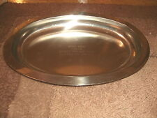 GREAT LAKES STEEL SAFETY AWARD PLATTER  ACCIDENT FREE 1973 - 1974 NATIONAL STEEL