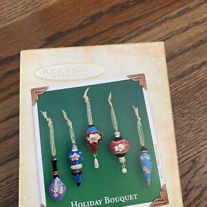 Hallmark Keepsake Lot Holiday Bouquet Gifts Of The Season Miniature Ornaments