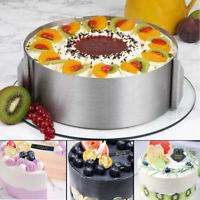 """6""""-12"""" Adjustable Round Mold Ring Cake Circle Cookie Cutter Mousse Layered Cake."""