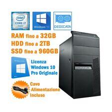 PC DESKTOP COMPUTER FISSO LENOVO THINKCENTRE M93P I7 4770 RS232 WINDOWS 10-