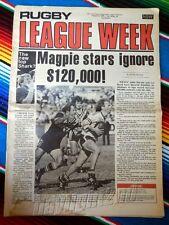 ✺RUGBY LEAGUE WEEK✺ 1979 Vol 10 No 25 MANLY SEA EAGLES John Gibbs NRL Big