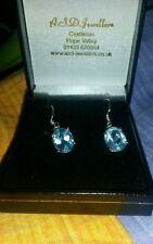 """""""Handmade"""" Silver Fine Gemstone Earrings"""