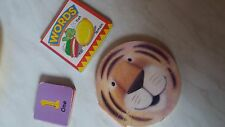 Kid's book set of three for learning the words in English, used in V.F. Cond.