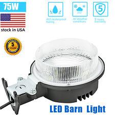 WYZM LED Barn Lights Dusk to Dawn Outdoor Area Light,75W 5000K Daylight,ETL(75W)