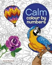 Calm Color By Numbers Adult Coloring Book Art Animal Flower Number Relaxing Art