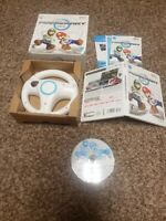Mario kart wii Bundle with wheel Complete in Box Excellent Fast Shipping