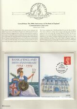 300th Anniversary OF THE BANK OF ENGLAND £2 B/UNC - coin cover