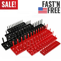 "6pcs Socket Organizer Tray Rack Storage Holder Tool Metric SAE 1/4"" 3/8"" 1/2"" US"