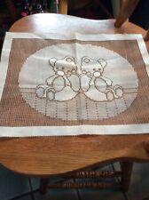Vintage Needlework Teddty Bears From Woolworth Nos