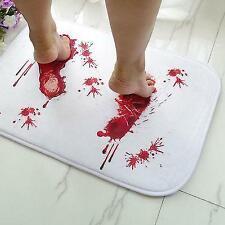 Bath Mat Bloody Footprint Non Slip Scare Your Friends Bathroom Home Door Floor
